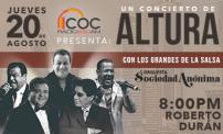 "51% OFF: ""Un Concierto de Altura con los Grandes de la Salsa"" on August 20th."